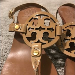 Tory Burch leather sandal with 2 inch heel